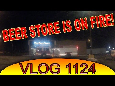 Beer store on fire, BBQ some food