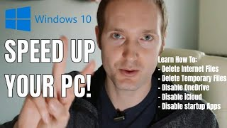 HOW TO Speed Up Windows 10 Performance (desktop and windows laptop) [2018]