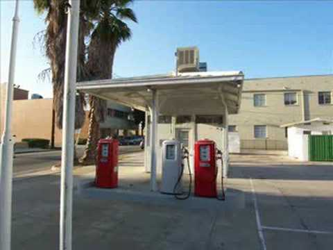 Gas Stations In California >> An Old Texaco Gas Station, Pasadena, CA - YouTube