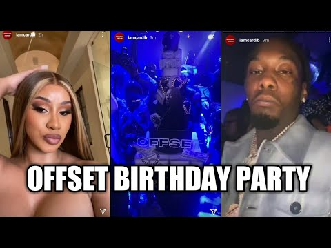 Cardi B at her husband Offset birthday party | Instagram story | December 15, 2020