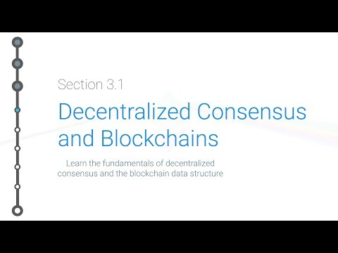 Cryptoeconomics - 3.1 - Bitcoin: Decentralized Consensus And Blockchains