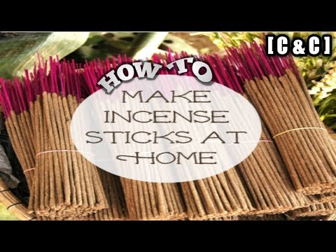 how to make a incense stick at home || latest process 2018