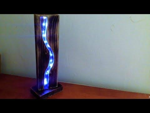 Epoxy Resin Led Lamp - Resin Art