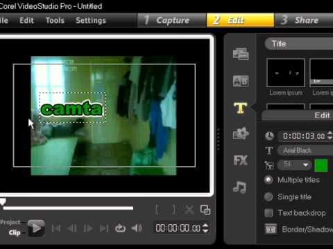 Hướng dẫn sử dụng Corel Video Studio Pro X3