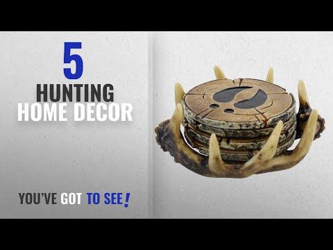 Top 10 Hunting Home Decor [2018 ]: Pine Ridge Old West Deer Antler Drink Coasters Set Of 4 - Home