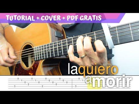 LA QUIERO A MORIR (Je' L'aime A Mourir) | PDF + TAB + TUTORIAL + COVER |