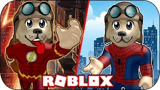 ROBLOX - Je deviens Flash et Spiderman! - Flash et Spiderman