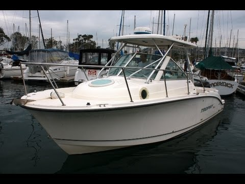 Trophy 2502 Walk Around Video Boat @ SMY (949) 842-2344