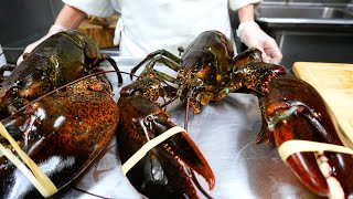 New York Food - GIANT FRIED LOBSTERS WITH EGGS Park Asia Brooklyn Seafood NYC