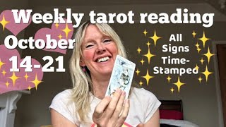 Weekly tarot reading  14-21 october 2017 *time-stamped each zodiac sign!*