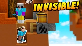 INVISIBLE PLAYER TROLL! - Minecraft SKYWARS TROLLING (INSANE)