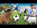 FUNnel Goats play Soccer! (FV FAMILY Farm Song Vlog)