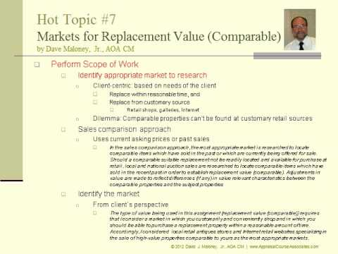 Hot Topic #7: Markets Used for Replacement Value (Comparable) (20:37)