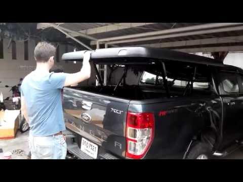วีธีการเปิด-ปิด ฝาครอบกระบะ Maxcover  180 สีดำลายหนัง สำหรับกระบะ 4 ประตู Ford All New Ranger