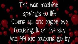 99 Red Balloons Lyrics On Screen Nena