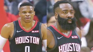 Russell Westbrook Goes Crazy With James Harden & Gets Standing Ovation! Rockets vs Trail Blazers