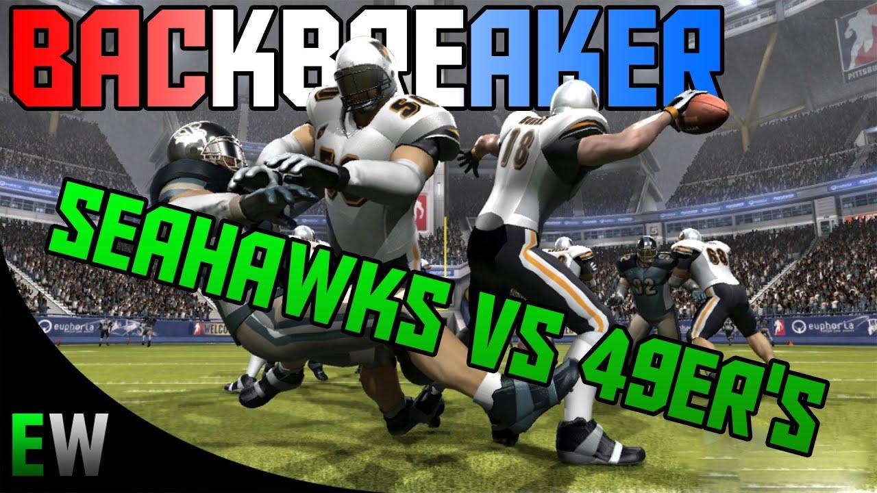 backbreaker sea vs san xbox 360 gameplay youtube