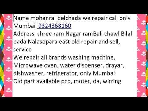 Videocon washing machines Digi marine noise problem