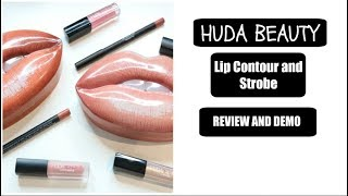 NEW HUDA BEAUTY LIP CONTOUR AND STROBE KITS | REVIEW AND DEMO