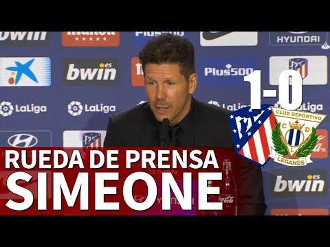 Atlético 1- Leganés 0 | Rueda de prensa de Simeone | Diario AS