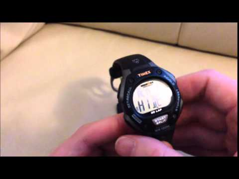 f6ac00b1d63c How to turn on   off alarm Timex Ironman Triathlon sports watch W-2009
