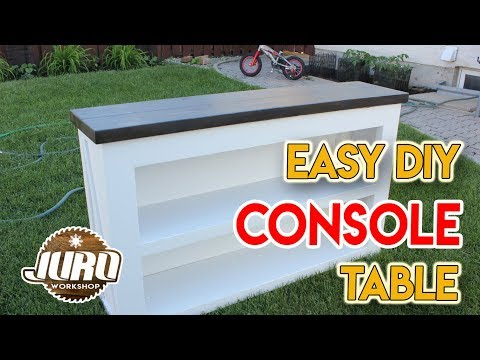 Console Table - Easy DIY Project | JURO Workshop