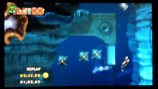 Donkey Kong Country Tropical Freeze: 4-4 Irate Eight- Shiny Gold Medal w/ Heart Symbol