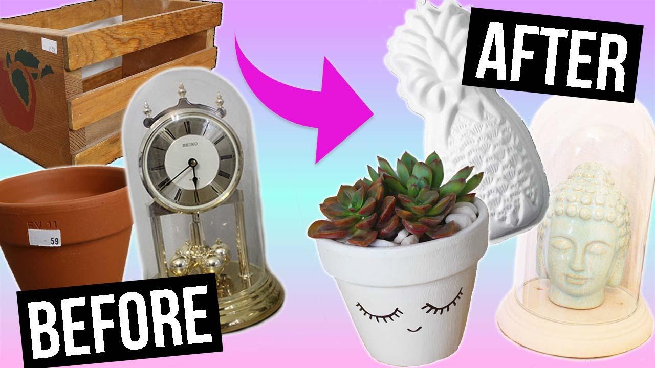 diy room decor: thrift store flip! - youtube