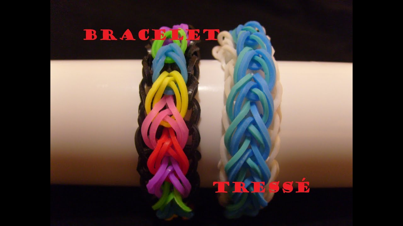bracelet elastique tress tuto francais niveau facile rainbow loom bands youtube. Black Bedroom Furniture Sets. Home Design Ideas