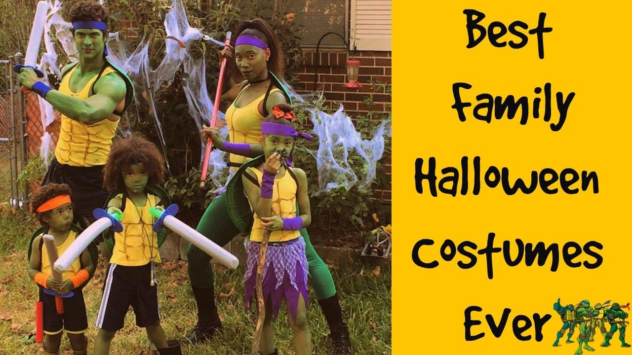 Family Ninja Halloween Costumes.Best Halloween Ninja Turtles Costumes Ever Cheap Costumes Family Vlog Youtube