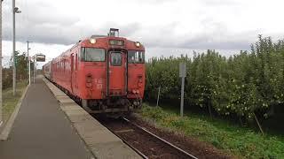 JR林崎駅 五能線 弘前行き発車【キハ40系・2529D】 2020.10.26