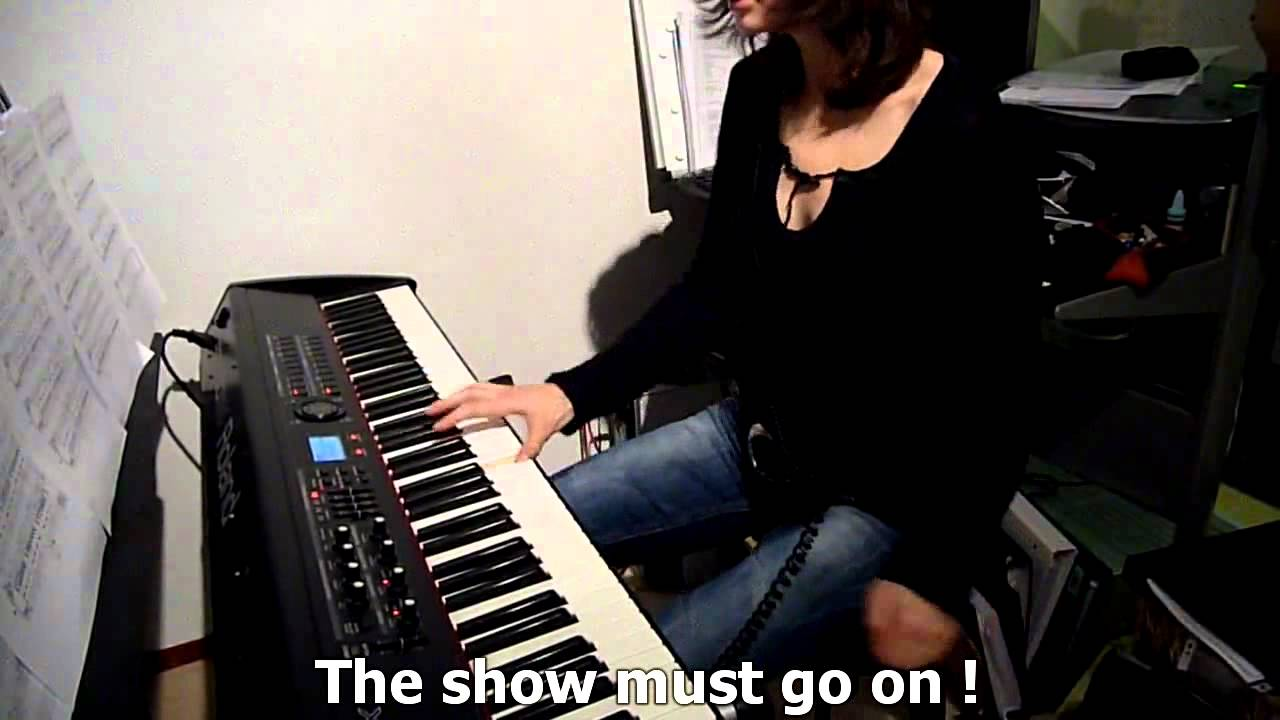 Queen The Show Must Go On Piano Cover & Lyrics