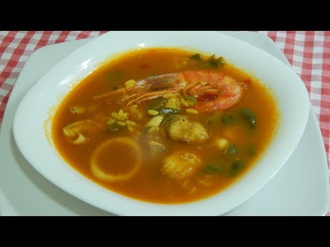 Receta fácil de sopa de arroz a la marinera