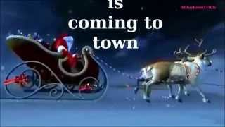 Michael Jackson Christmas song Santa Claus is coming to town with lyrics