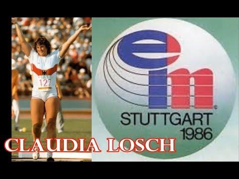Claudia Losch  (Germany) SHOT PUT 1986 EC Stuttgart
