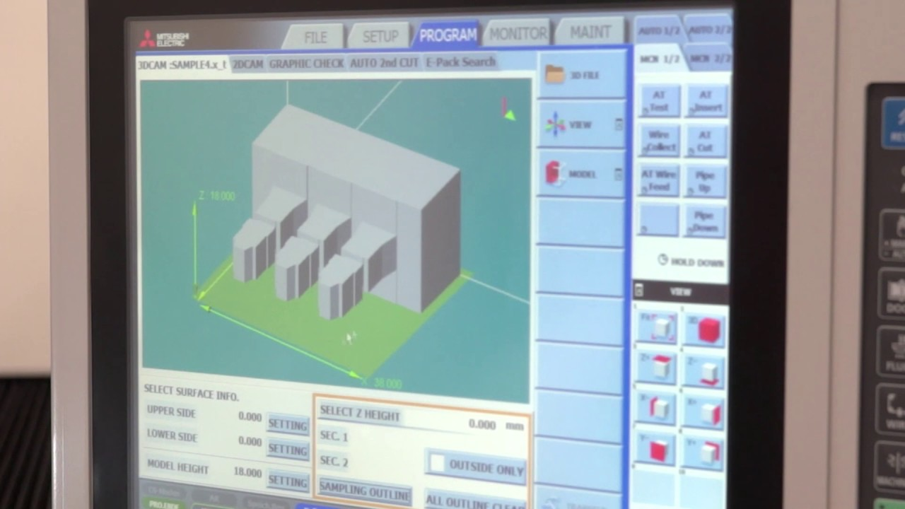 Mitsubishi wire EDM Control walk through - YouTube