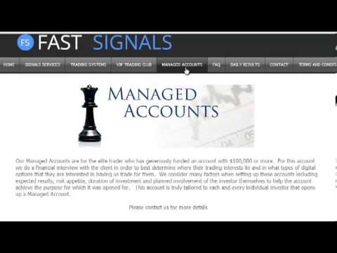 Binary options auto managed account