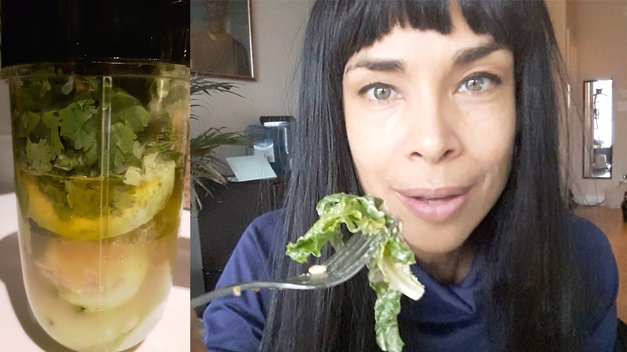 How to Make Avocado Dressing  & A Big Hearty Healthy Salad