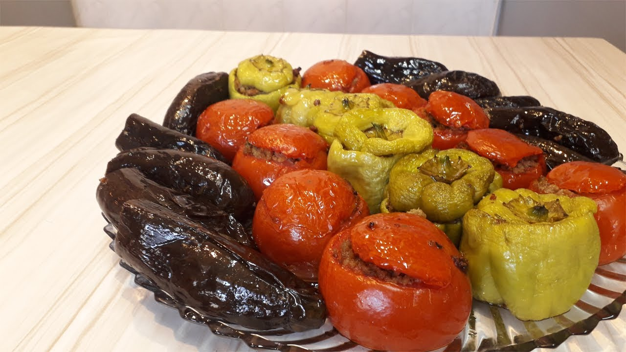 Dağılmayan Badımcan Bibər Pomidor Dolmasının Sirri, Yemek Reseptleri