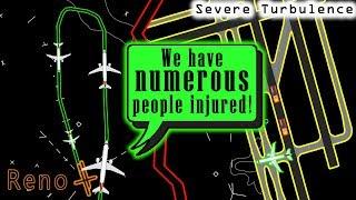 [REAL ATC] Embraer E175 diverts to Reno | 5 passengers injured!