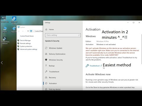 How to activate Windows 10 [2019 method] !! without any product key