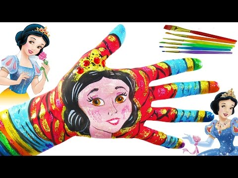 Thumbnail: Learn Colors Body Paint for Kids Disney Princess Painted hands Learning Colors Video for Children