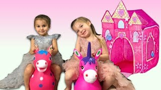 Castle and Riding Pony ~ Surprise for Elya and Adelya Toy | Elya & Adelya Kids Show