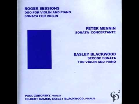 Roger Sessions - Duo for Violin and Piano - Andante moderato, tranquillo ed espressivo