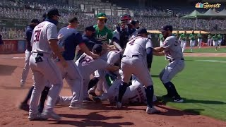 MLB FIGHT - Astros vs Athletics (Video)