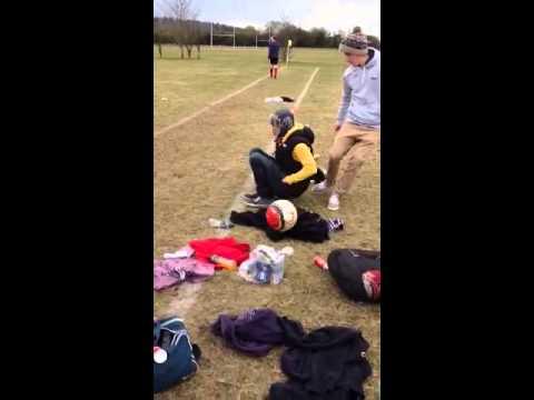 Funny football prank