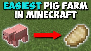 (1.16+) EASIEST AUTOMATIC PIG COOKER IN MINECRAFT! - Infinite Food Tutorial