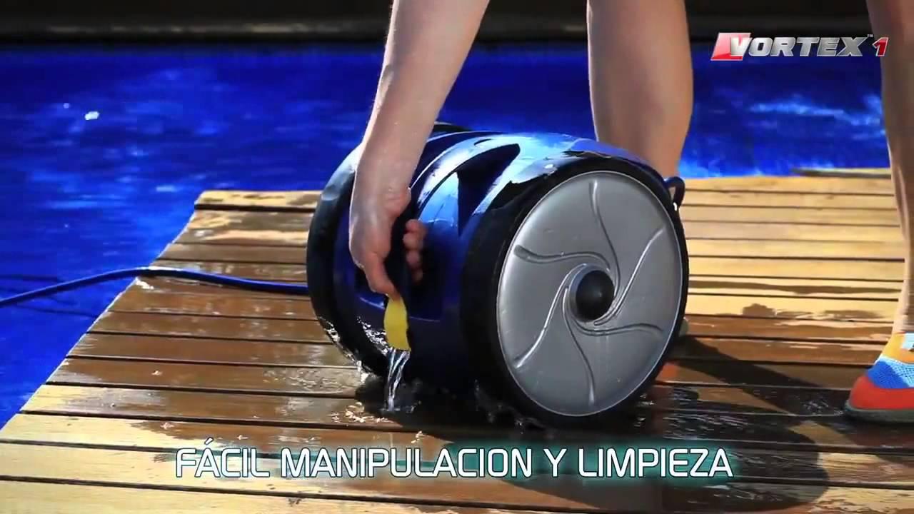Robot limpiafondos autom tico el ctrico para piscinas zodiac vortex 1 youtube - Limpiafondos piscina electricos ...