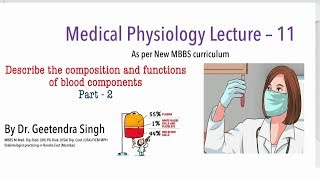 NEXT MEDICO - MBBS : Medical Physiology Lecture - 11 : Body Fluids ( Part- 2)