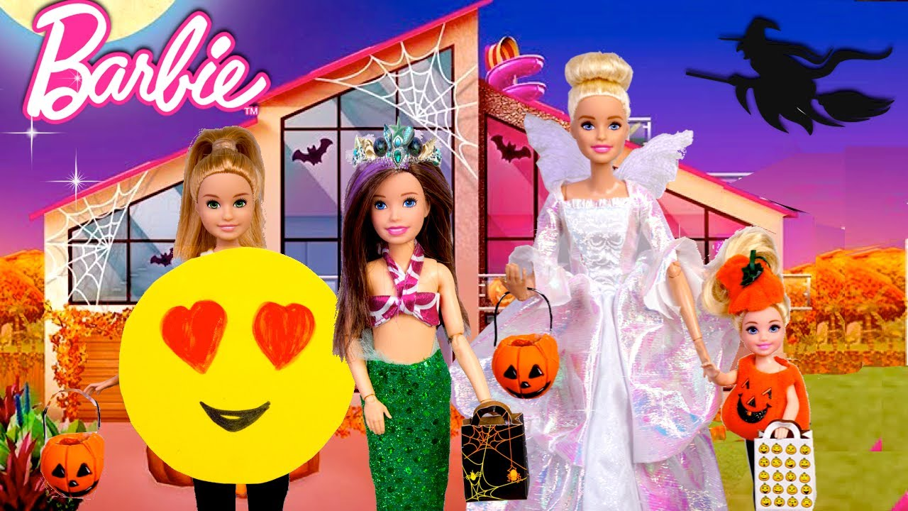 Barbie Family Halloween Videos - Dress up & Trick Or Treating - LOL OMG Baby Goldie